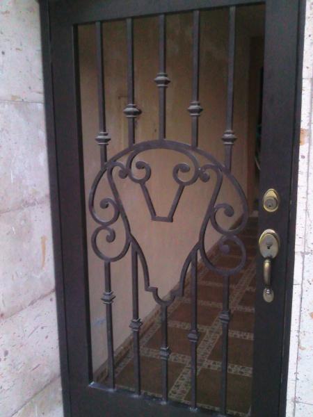 Puertas de forja for Puertas principales de herreria elegantes